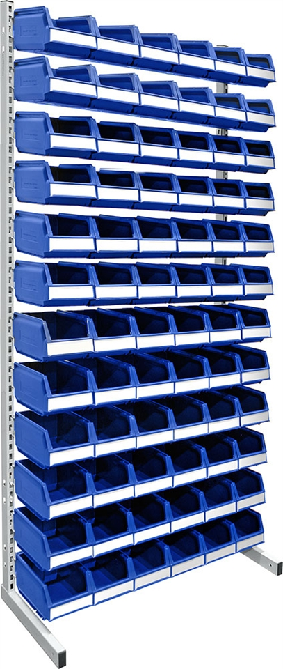 Floor rack 2000 mm complete 72 pcs 9074 blue