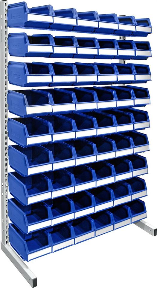 Floor rack 1500 mm complete 54 pcs 9074 blue