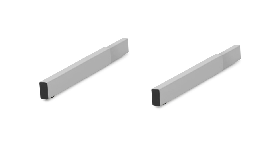 Base extension for floor racks 9010 and 9011 to double rack