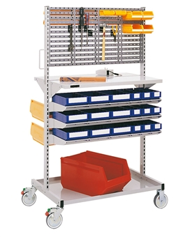 Storage system, racks and carts