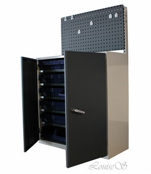 Storage cabinets with and without doors