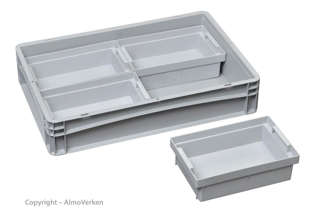 Insert boxes 1/4 280x178x80 mm