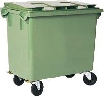 Waste containers with 4 wheels