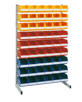 Accessories for floor and wall racks and transport trolley
