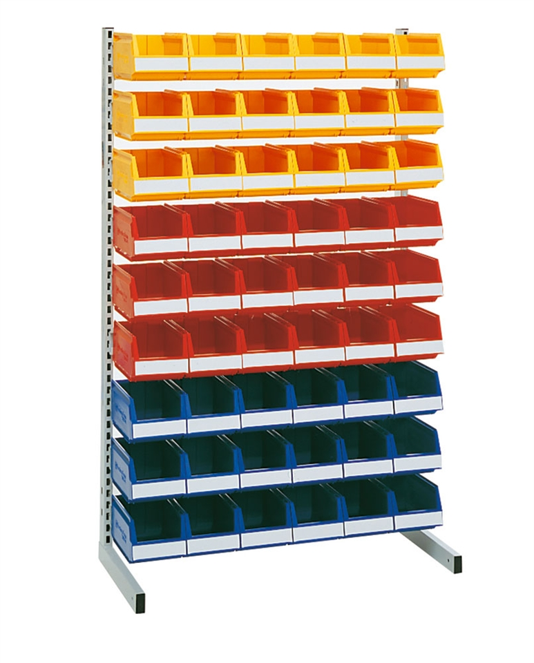 Floor rack 1500 mm complete 54 pcs 9074 in three colors