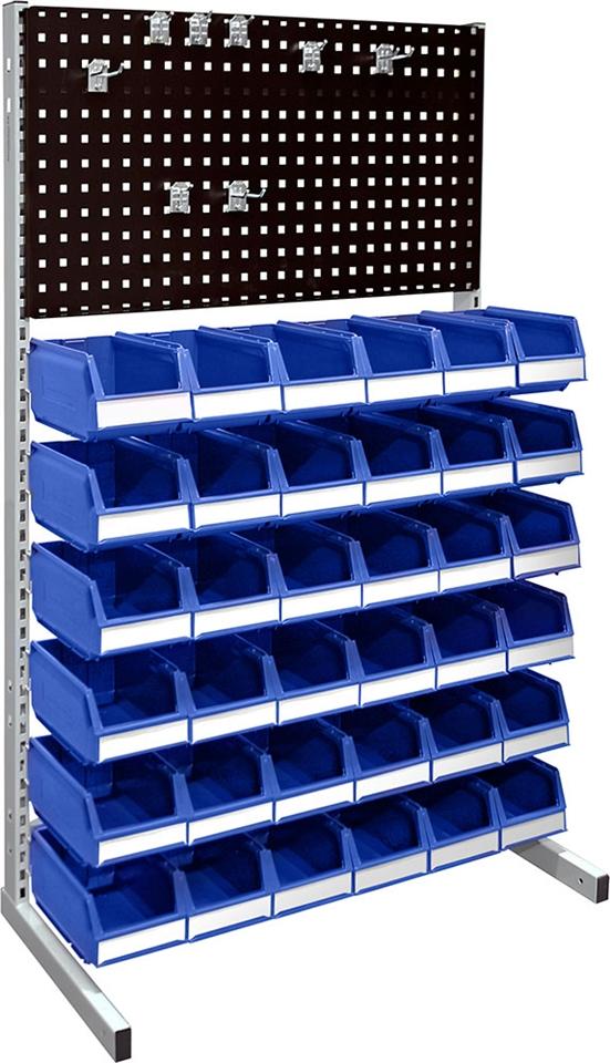 Golvställ 1500 komplett med verktygspanel och 36 st 1074 blå