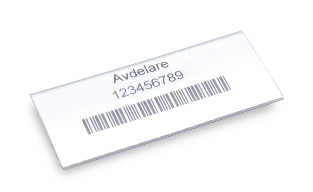 Labels with holders 60×30 mm